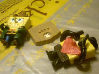 Muñeco Bob Esponja X 2 C Ruleta Burger King Israel Retro Kxz