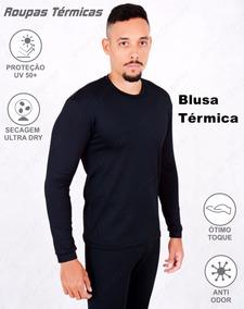 Roupas Térmicas Kit 1 Blusa E 1 Par De Luvas Segunda Pele Uv