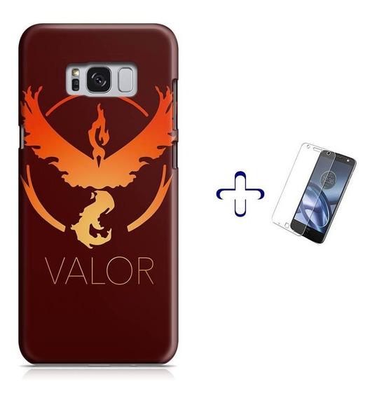 Kit Capa Galaxy S8 Pokemon Team Valor+pel.vidro (bd01)
