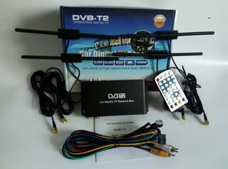 Receptor De Tv Digital Hd 1080 Dvb T2 P/ Carro - Completo
