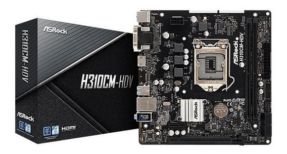 Tarjeta Madre Asrock H310cm-hdv Intel 1151 Ddr4 8va Y 9na Ge