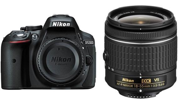Câmera Nikon D5300 Com Lente Af-p Dx 18-55mm Vr