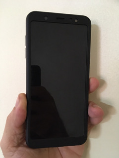 Celular Samsumg A6 Plus Com Capa 360 Preto Nunca Usado