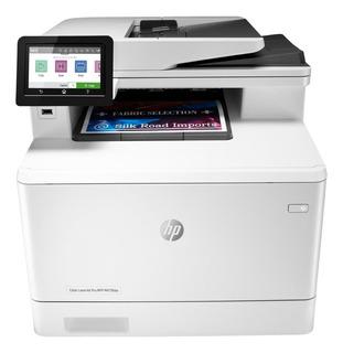 Impresora a color multifunción HP LaserJet Pro M479FDW con wifi 110V blanca