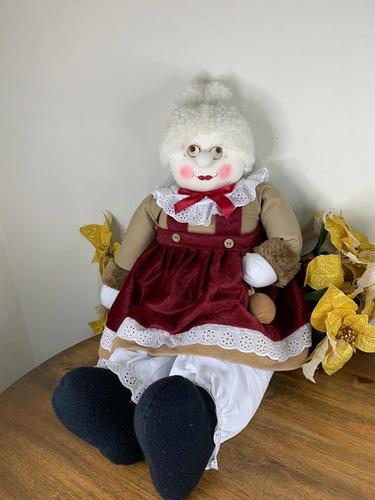 Imagem 1 de 8 de Mamãe Noel 85cm Natal