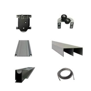 Kit Frente Aluminio Placard 3 Mts 2 Puertas Hafele