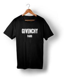 Camiseta Givenchy Moda Preta Paris Fendi Marcas De Luxo