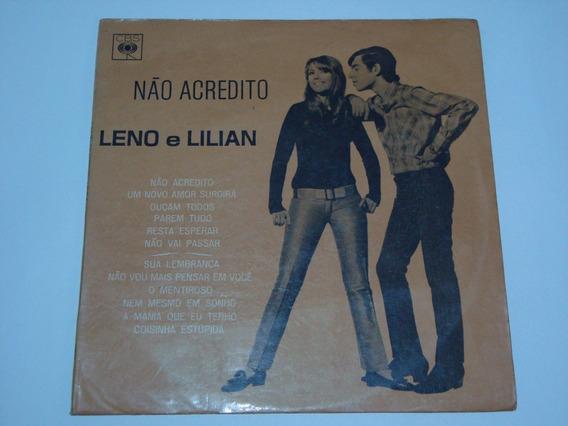 Lp Leno E Lilian - Não Acredito - 1967 - Jovem Guarda