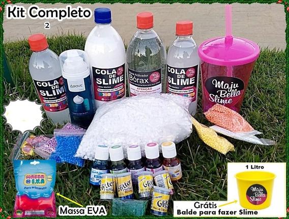 Kit Completoo.p/ Fazer Slime Da Maju Bella Slime.