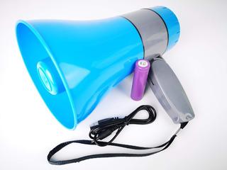 Megafono Recargable Sirena Grabador Voz Usb/tf 15w Altavoz