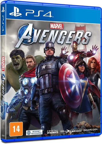 Marvel's Avengers Ps4 Mídia Física Novo Lacrado Pt-br + Nf
