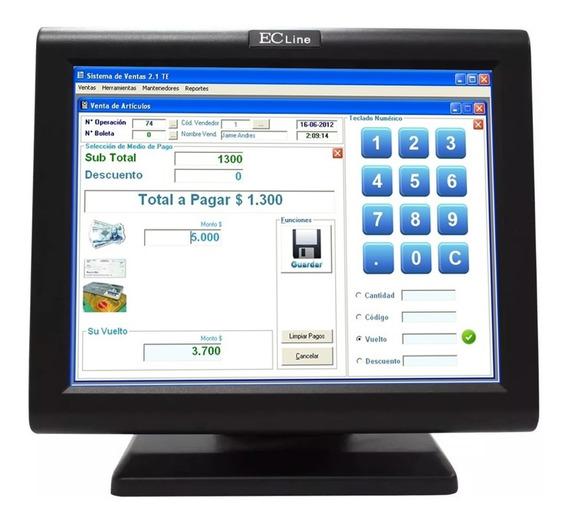 Monitor Touch Screen Led Ec Line 15 Usb Vga Ec-ts-1510 Pos