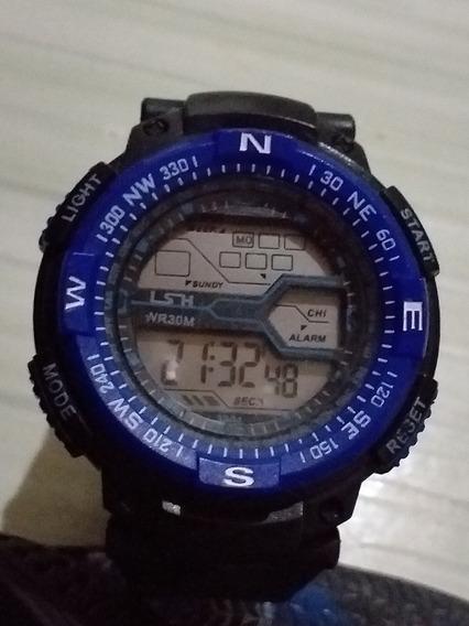 Relógio El Back Licht Sport Watch