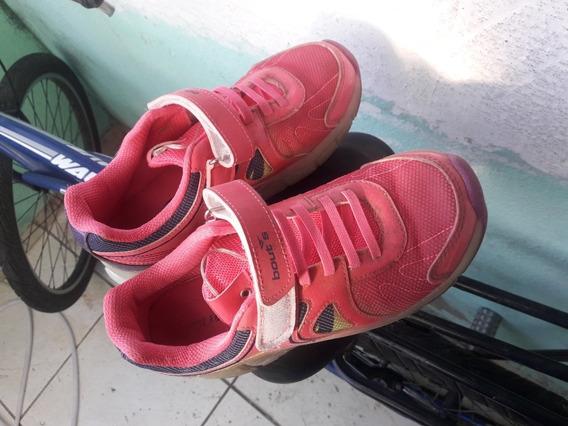 Tênis Rodinha Com Led Rosa