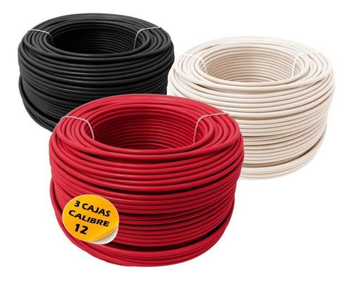 Pack Con 3 Cajas Cable Electrico Calibre 12 Cada Una De 100m