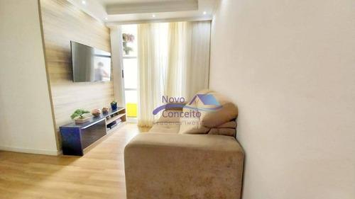 Apartamento Com 3 Dormitórios À Venda, 61 M² Por R$ 423.900,00 - Jardim Vila Formosa - São Paulo/sp - Ap0210
