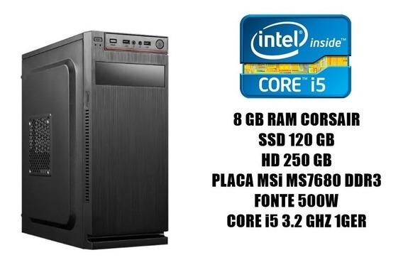 Cpu Workstation 8gb Ram/ Ssd 120gb/ I5 3.2 Ghz/hd 250gb