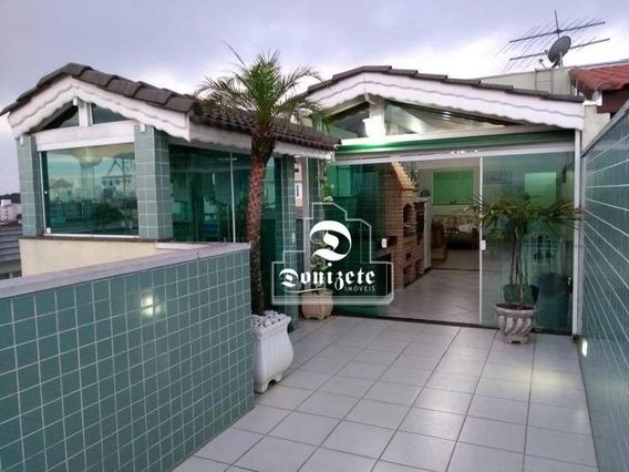 Cobertura Com 3 Dormitórios À Venda, 200 M² Por R$ 650.000 - Santa Maria - Santo André/sp - Co10981