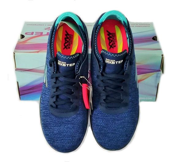 Tenis Skechers Go Step Feminino Azul Escuro Caminhada