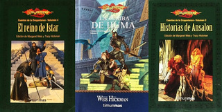 Lote Tres Libros Crónicas Dragonlance Dungeons & Dragons