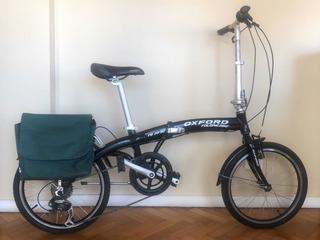 Bicicleta Plegable Oxford Fb-2002 Rod20+alforja,lucesy Bolso