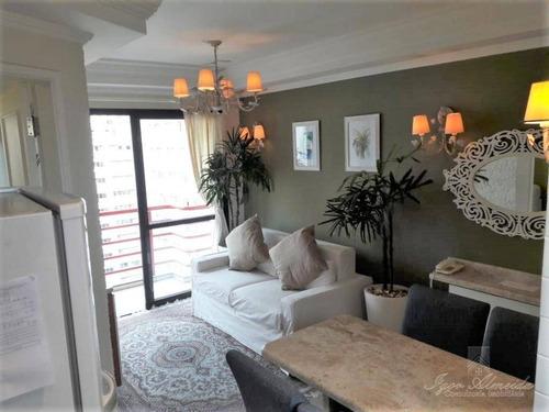 Imagem 1 de 16 de Flat Com 1 Dormitório Para Alugar, 38 M² Por R$ 3.450,00 - Moema - São Paulo/sp - Fl0100