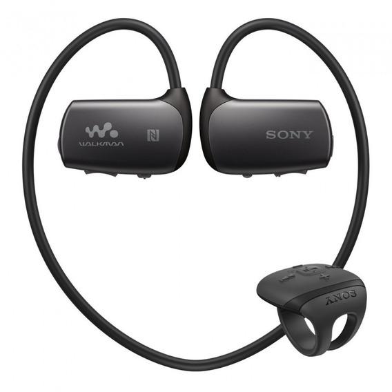 Fone De Ouvido Sony Nw-ws625 Mp3 16gb Preto Com Controle
