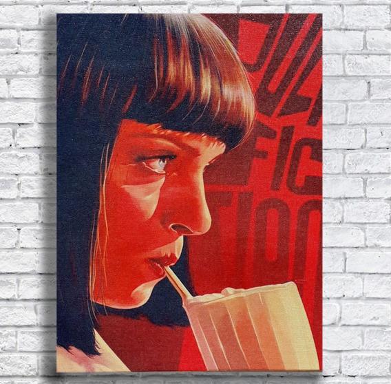 Quadro Pulp Fiction Impresso Em Tela De Pintura 30x40 Cm
