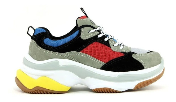 Tênis Sneaker Qix Higher - Azul/preto