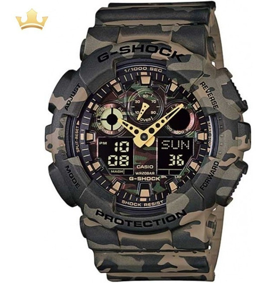 Relógio Casio G-shock Masculino Ga-100cm-5adr Com Nf