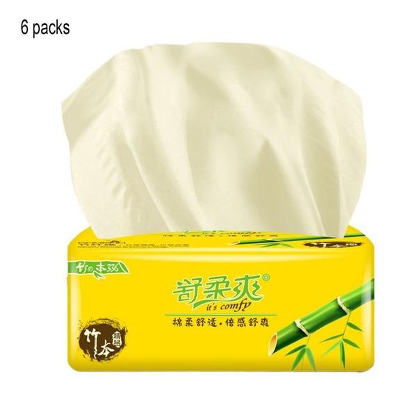 300 Peças Casa 3 Camadas Pasta De Bambu Papel Tecido Facial