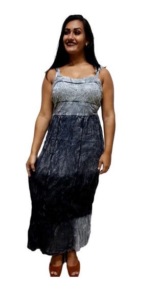 Vestido Longo Indiano Feminino Alça Moda Boho 26527