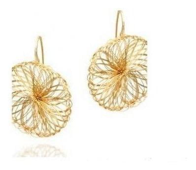 Brincos Dourado Design Diferenciado Rommanel