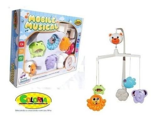 Imagem 1 de 6 de Móbile Giratório Brinquedo Para Berço Bebê