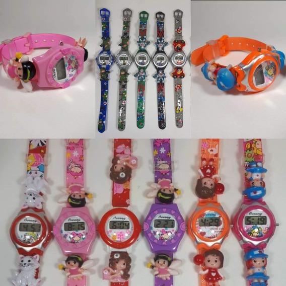 Kit 10 Relógios Digital Feminino/masculino Infantil Atacado