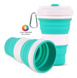 Taza Vaso Termo Plegable Ecológico Reutilizable C/caja 550ml