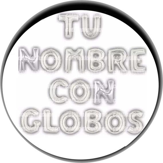Tu Nombre Con Globos Globos Metalizado Plata 80cm 32 Pulgada