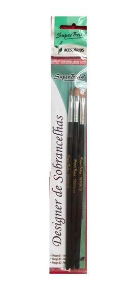 Kit C/ 3 Pincel Para Aplicação De Henna Super Bella