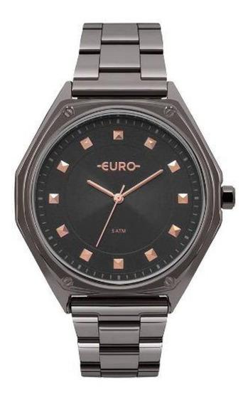 Relógio Feminino Euro Eu2035yop/4c 43mm Aço Fume