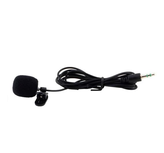 Microfone De Lapela Stereo + Adaptador Para Youtubers
