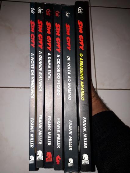 Lote Com 6 Volumes Do Sin City Devir - Novos