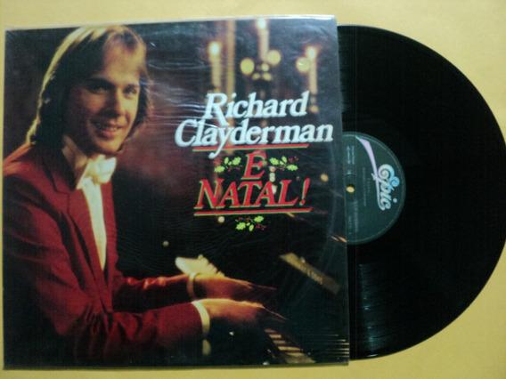 Lp Richard Clayderman- É Natal- Original- Zerado Frete 15,00