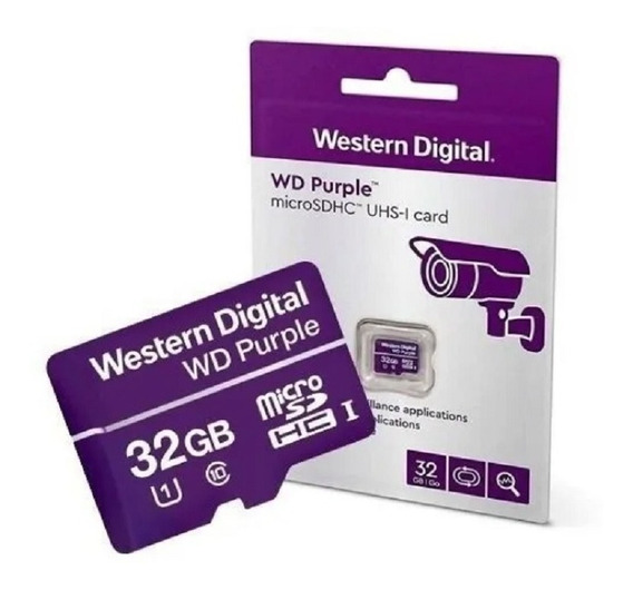Cartão Memoria 32 Gb Intelbras Wd Purple Nfe