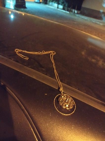 Colar De Diamante Com Bronze, Com Círculo Em Volta De Si!