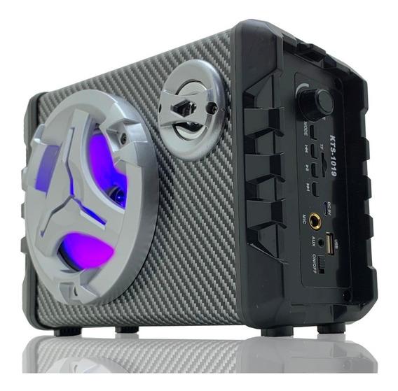 Caixa Som Bluetooth Amplificada Grande Karaoke Usb Fm Sd Aux