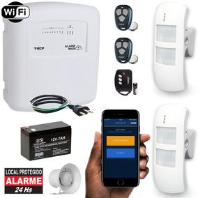 Alarme Wifi Com Internet Sem Fio 2 Sensores Externo Completo