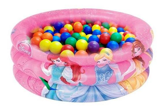 Piscina De Bolinhas Inflável Disney Princesas C/ 50 Bolinhas
