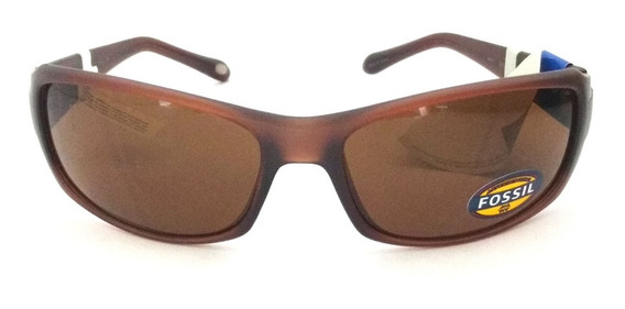 Óculos De Sol Fossil Marrom Original