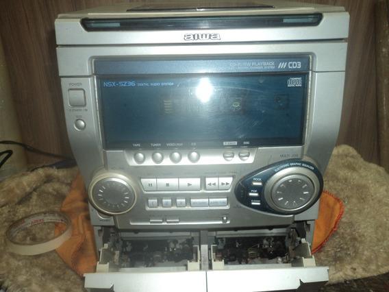 Micro System Aiwa/ns;5236/3cds/fita /radio /esta So Ligando