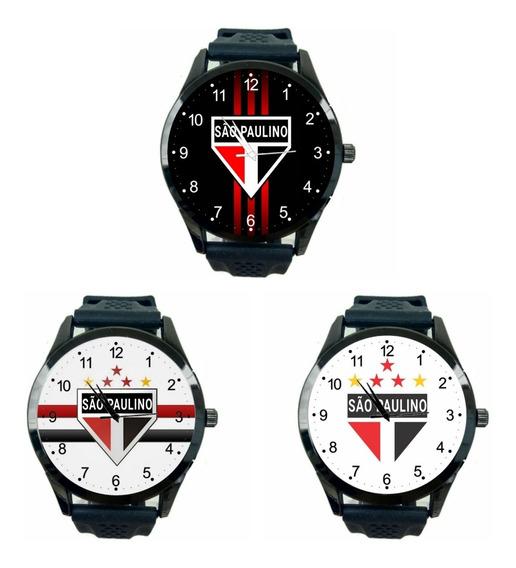 São Paulo Kit 3 Relógios Feminino Promoção Oferta Time T488